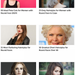 15 galeries de photos pour coupes féminines avec visage rond