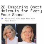 22 coupes courtes adaptées à la forme du visage