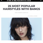 25 coiffures à la mode avec une frange