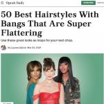 Sélection des 50 plus belles coupes avec une frange
