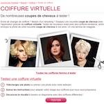 Coiffure virtuelle en ligne