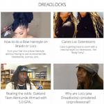 Photos de dreadlocks, coiffures, tressage, chignons