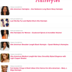 Coiffures afro sur Hairstyles Weekly
