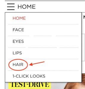 Choisir coupe de cheveux, coiffure dans le menu de relooking