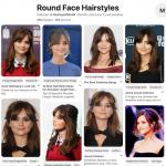 Plus de 350 belles coupes pour un visage rond