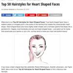 Top 50 des meilleures coupes pour un visage en coeur